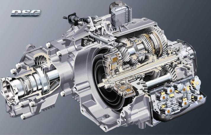 Modell eines Direktschaltgetriebes eines VAG Fahrzeugs