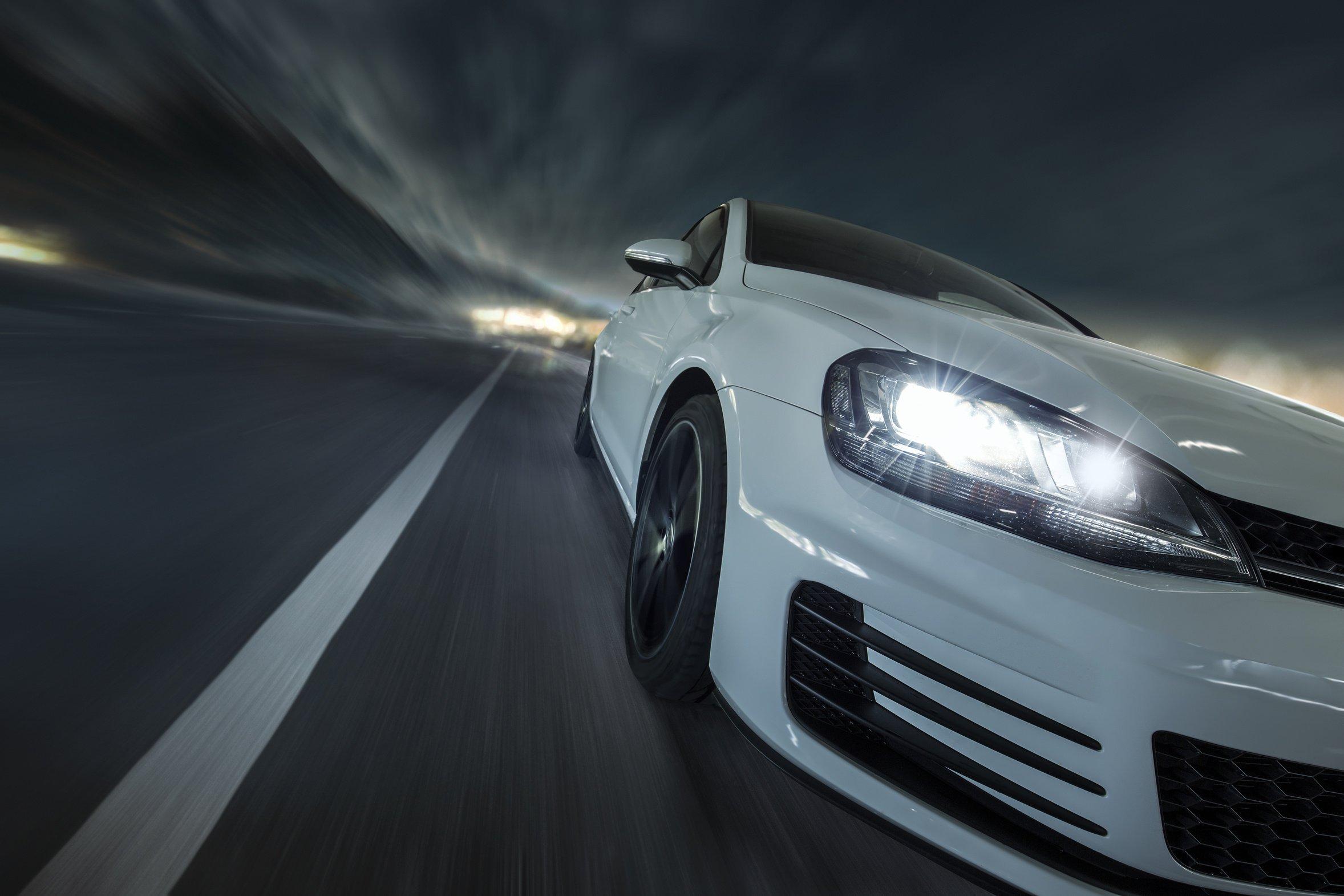 Golf GTI während der Fahrt