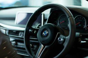 Lenkrad und Innenraum BMW Fax